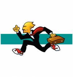 corporate runner vector image