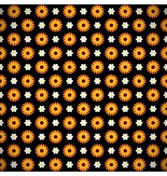 Dark seamless pattern with flowers vector image