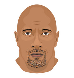 dwayne johnson face icon in flat style vector image vector image