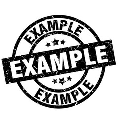 Example round grunge black stamp vector