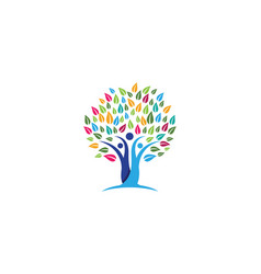 family tree symbol icon design vector image vector image