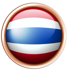 Flag of thailand in round frame vector