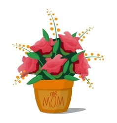 Flower bouquet roses basket vector