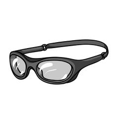 Glasses for swimming icon in monochrome style vector