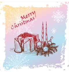 hristmas gift vector image vector image
