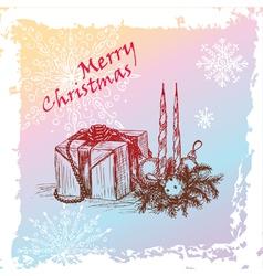 hristmas gift vector image