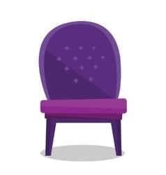 Luxurious vintage armchair vector