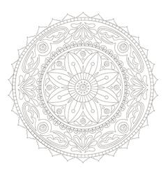 mandala doodle2 vector image vector image