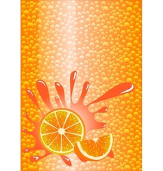 Orange lemonade vector image vector image