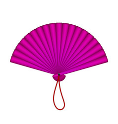Oriental fan in purple design vector