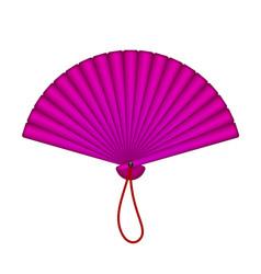oriental fan in purple design vector image vector image