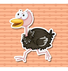 Ostrich vector image vector image