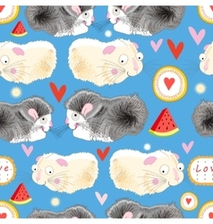 Pattern enamored hamster vector