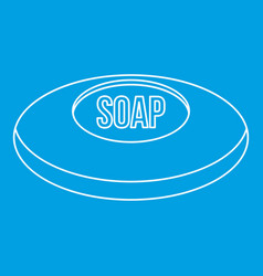 Piece of soap icon outline style vector