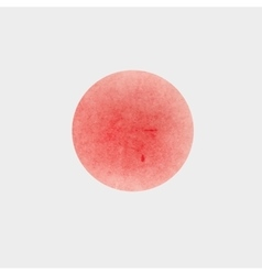 Round spot acrylic watercolor red paint vector