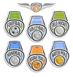 set sports logo vector image vector image