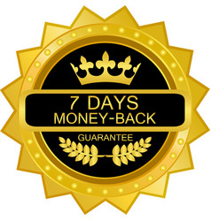 seven days money back icon vector image vector image