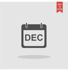 Simple Calendar Modern design flat style icon vector image