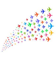 Source stream of jet plane vector