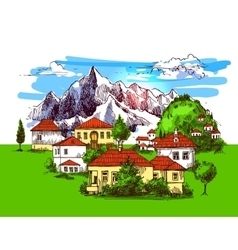 village houses vector image vector image