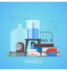 Physics science education concept poster in vector