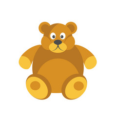 cartoon chubby brown bear with funny face isolated vector image