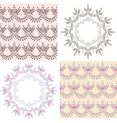 Set of backgrounds vector image