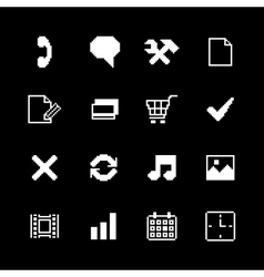 Contrast pixel icons set for interface design vector