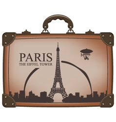 Suitcase paris vector