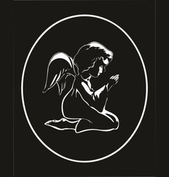 Angel praying vector