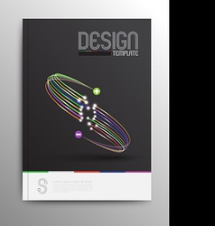 Brochure design template business abstract vector