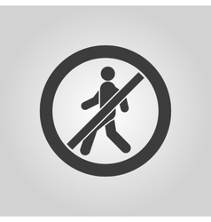 The no entry icon disallowed and danger warning vector
