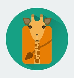 Giraffe baby animal icon vector