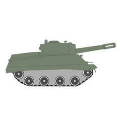 Figure toy green tracked tank vector