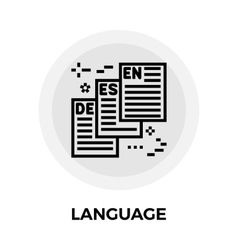 Language line icon vector