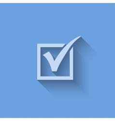 Agreement symbols on blue background vector