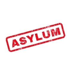 Asylum text rubber stamp vector