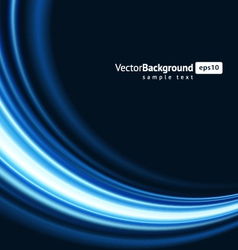 blue smooth light lines vector image