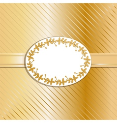 Christmas background and label gold vector image vector image