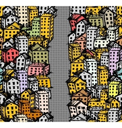City street sketch seamless background for your vector image vector image