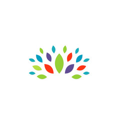 colorful leaf beauty logo vector image vector image