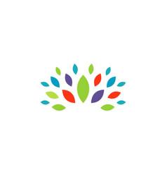 colorful leaf beauty logo vector image