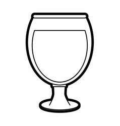 Delicious wine drink cup vector