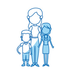Family parent with childrens image vector