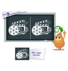 game find 9 differences cinema vector image vector image