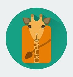 Giraffe Baby Animal Icon vector image