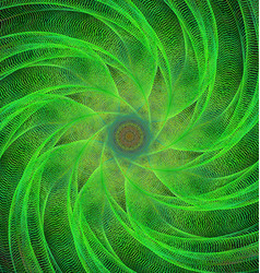 Green computer generated spiral fractal background vector