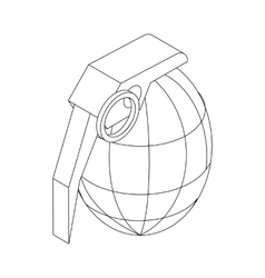 Grenade icon isometric 3d style vector image