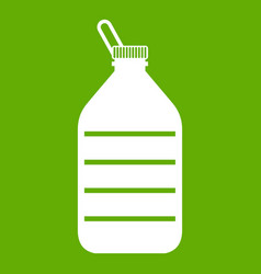 large bottle of water icon green vector image