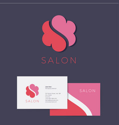 logo s flower salon identity flower cloud vector image